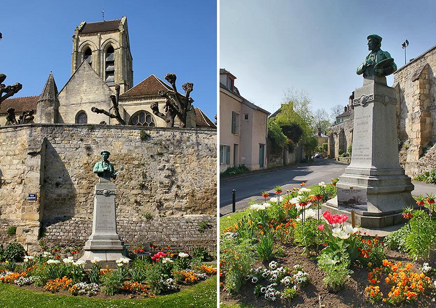 busts of Vincent van Gogh at Auvers-sur-Oise