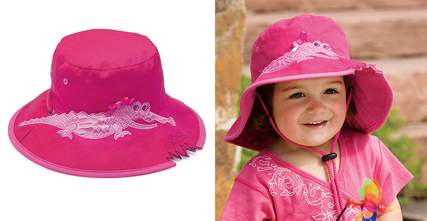 Wallaroo crocodile hat for kids