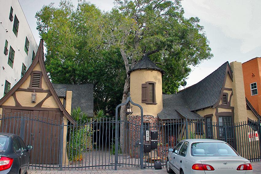 last remaining house on the Chaplin back lot, Hollywood