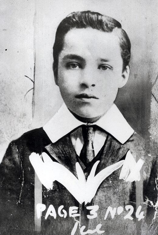 Charlie Chaplin at age 8 or 9