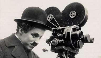 Charlie Chaplin with movie camera