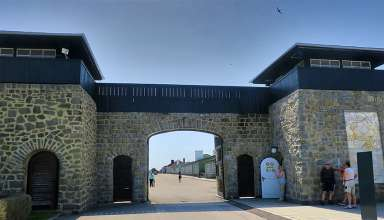 entrance to the Mauthausen Concentration Camp, Linz, Austria