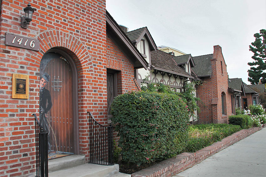 the former Chaplin Studio, Hollywood