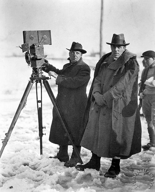 D.W. Griffith with Billy Bitzer