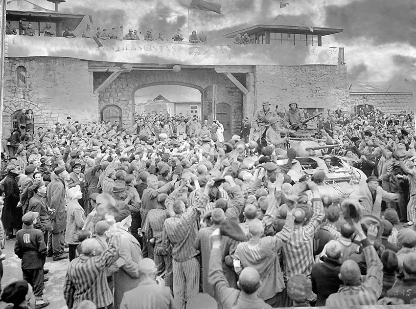 liberation of Mauthausen, 1945