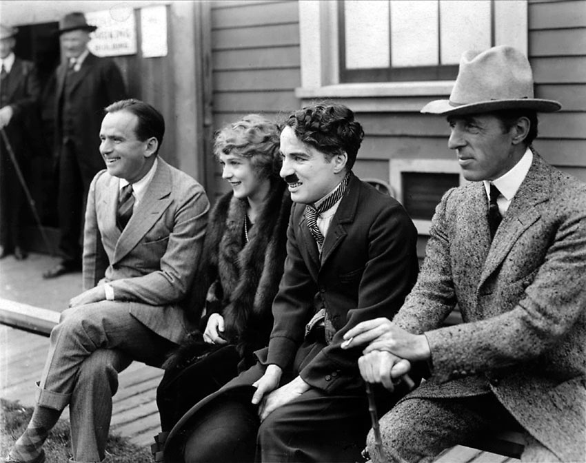 Fairbanks, Pickford, Chaplin and D.W. Griffith