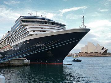 cruise ship at Sydney Harbor, Australia
