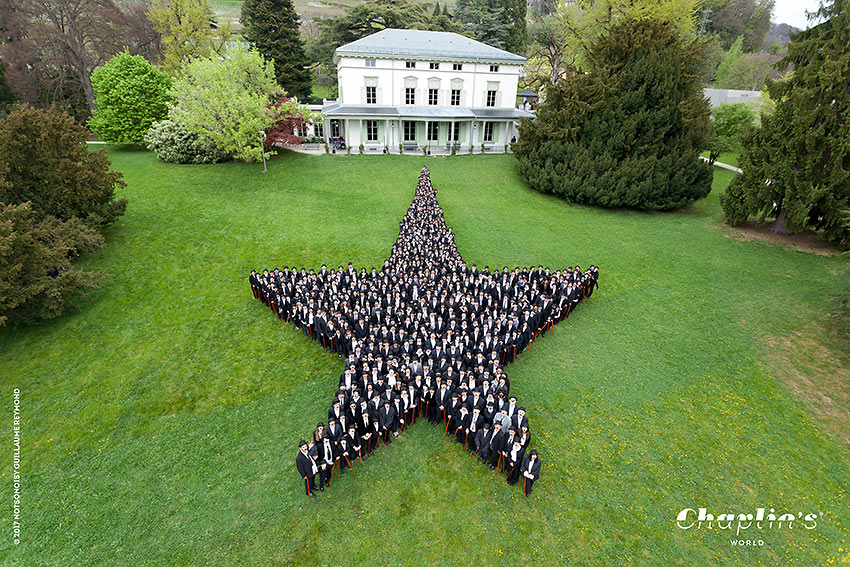 Chaplin fans make a star on the grounds of the Chaplin's World – Manoir de Ban