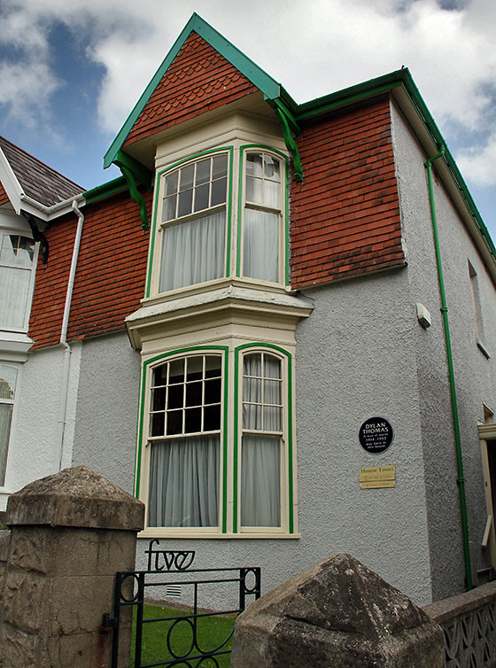 Dylan Thomas' Birthplace at the Uplands district of Swansea