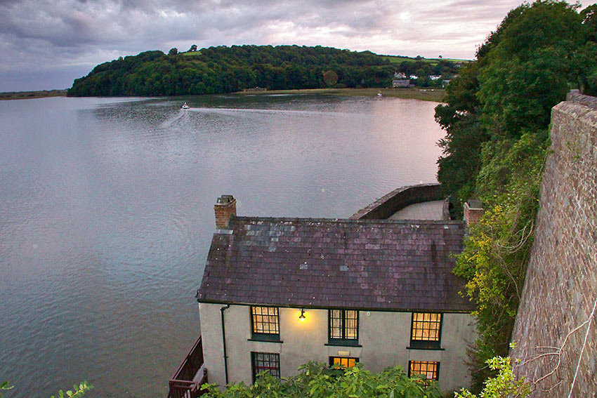 Dylan Thomas' boathouse in Laugharne, South West Wales