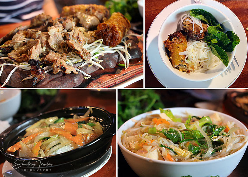 Vietnamese fare at restaurants near Hoan Kiem Lake