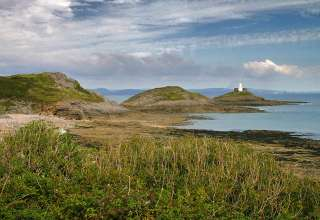South West Wales coast and lighthouse