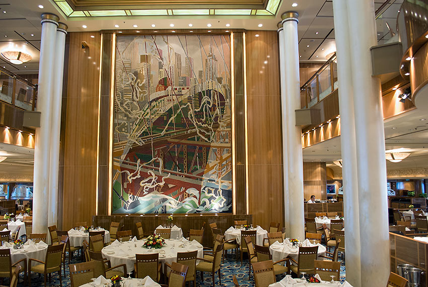 the two level Britannia Dining Room