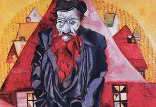 Marc Chagall's Jew in Bright Red