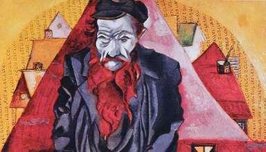 Marc Chagall's Jew in Bright Red
