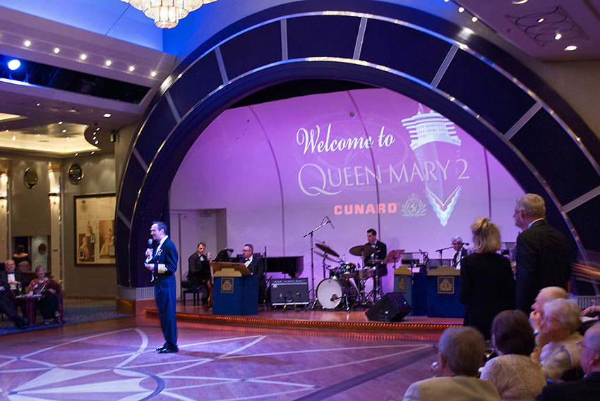 the Queens Room, Deck 2, at the Queen Mary 2