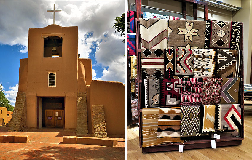 the San Miguel Mission and Native American tapestry, Santa Fe