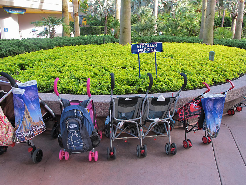 parking for strollers, Orlando