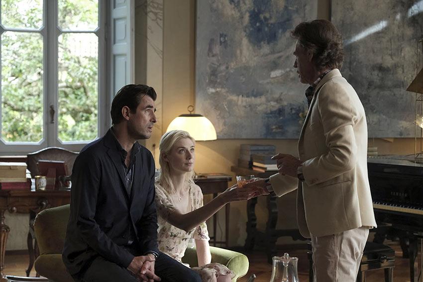 Claes Bang, Elizabeth Debicki and Mick Jagger