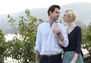 Claes Bang and Elizabeth Debicki in 'The Burnt Orange Heresy'