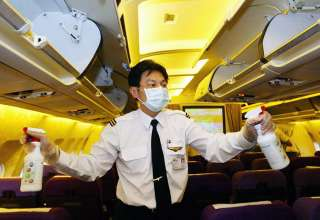 disinfecting plane interior