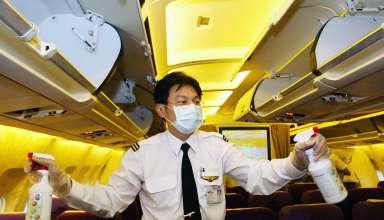 disinfecting plane interior