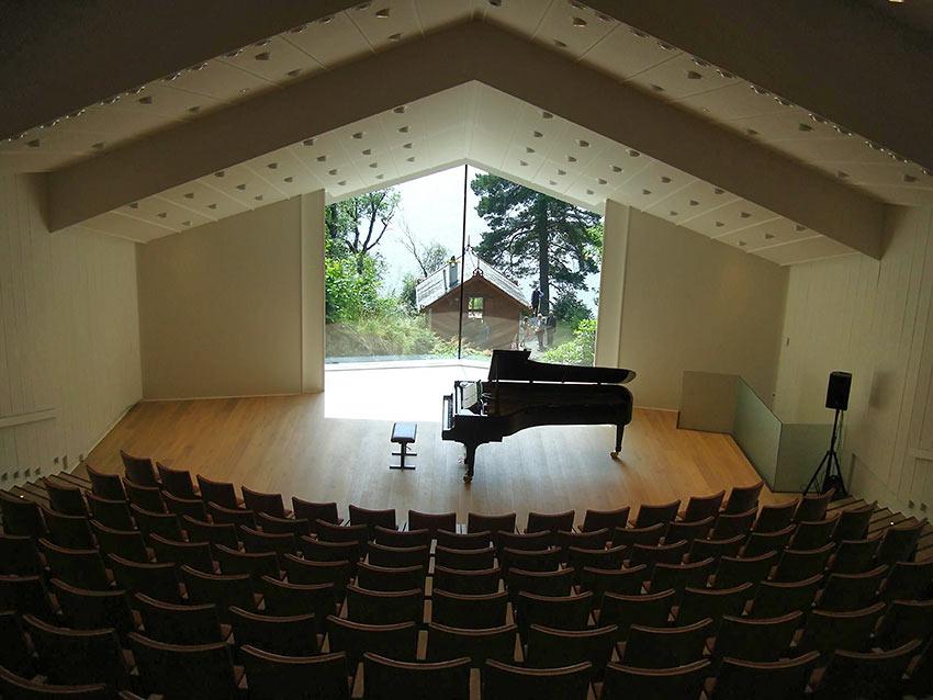 Concert Hall at the Grieg Museum, Troldhaugen Villa in Bergen, Norway