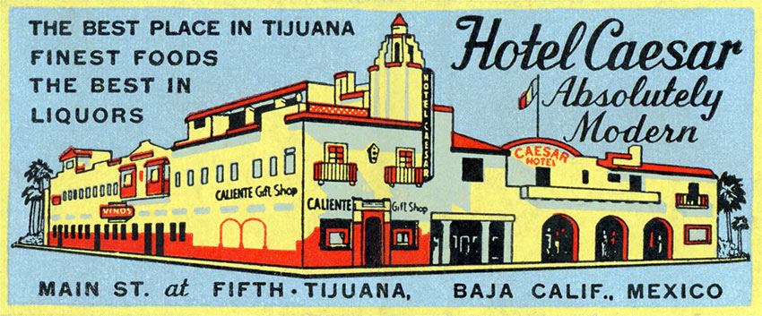 ad for Hotel Caesar in the 1920s