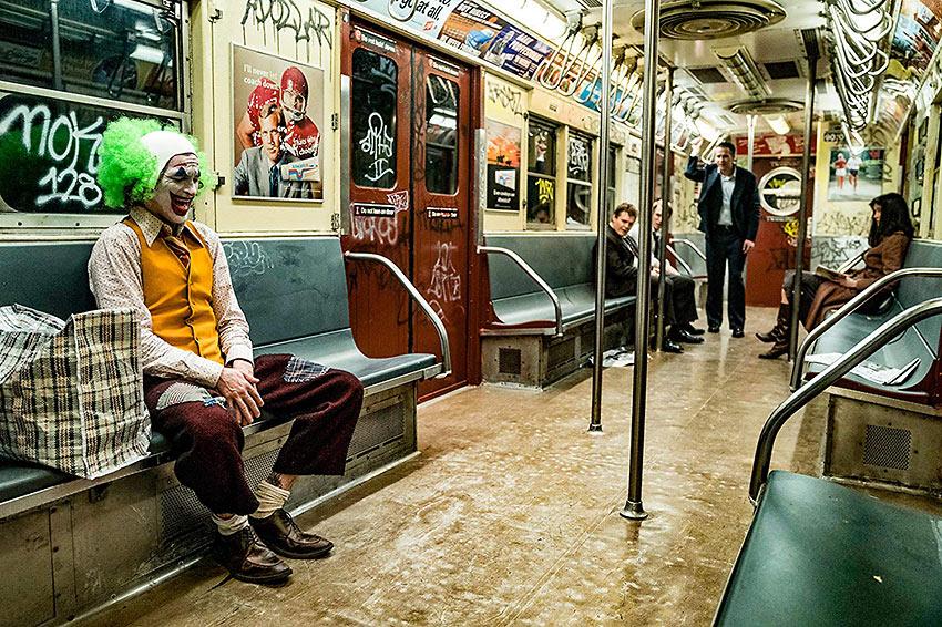 subway scene from 'Joker'