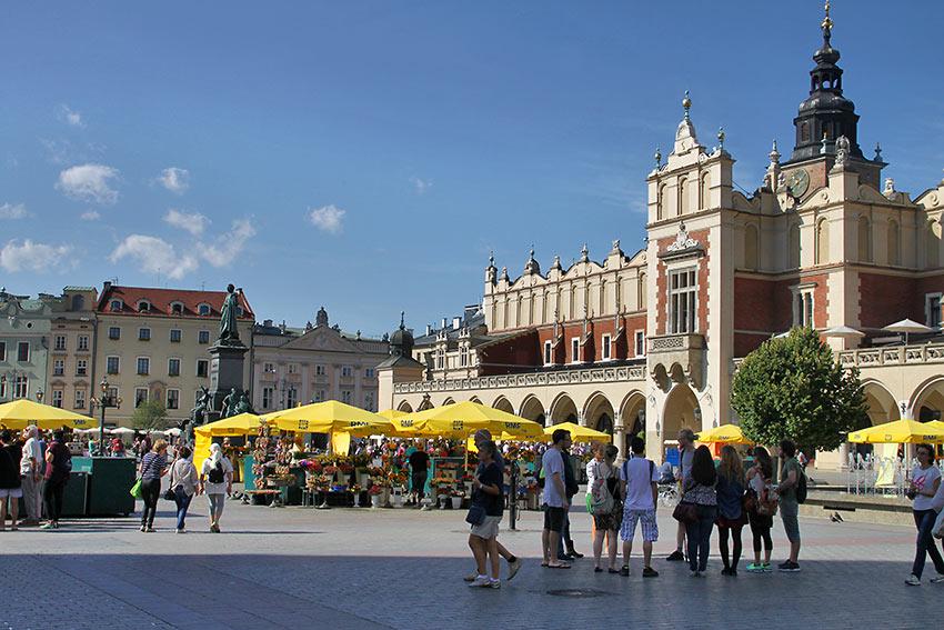 the Main Market Square in Kraków