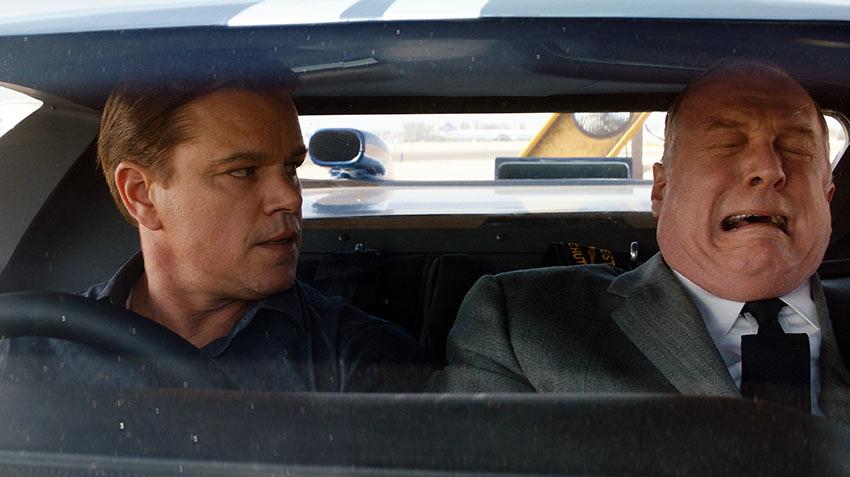 Matt Damon and Tracy Letts in 'Ford v Ferrari'