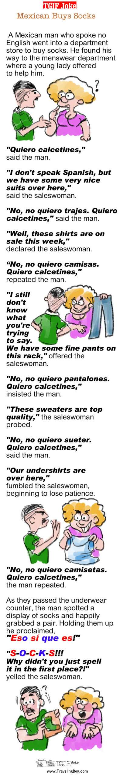 TGIF Joke of the Week: Mexican Buys Socks