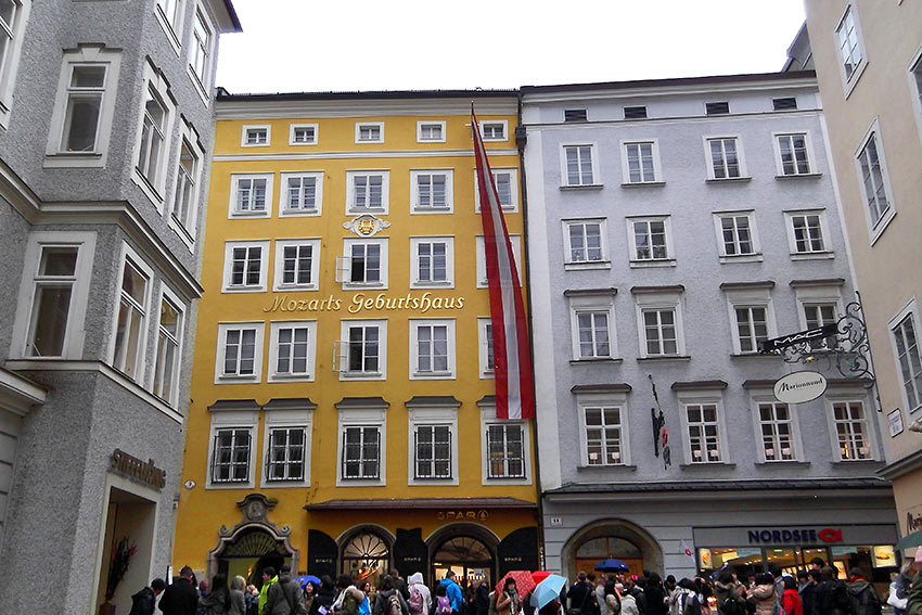 Mozart's place of birth and childhood in Salzburg