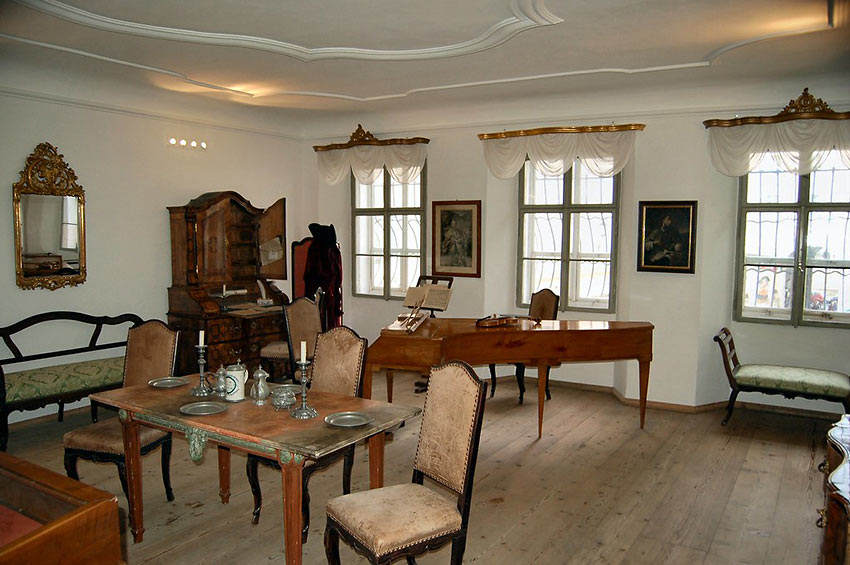 Mozart family dining room and practice area, Salzburg, Austria