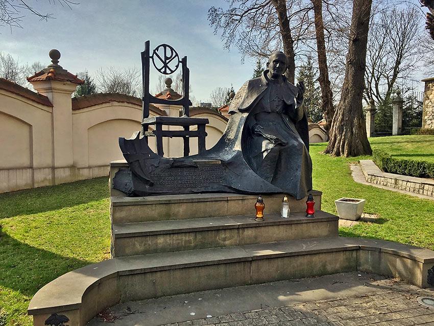 statue of Pope John Paul II, Kraków