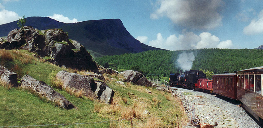 Wales steam train