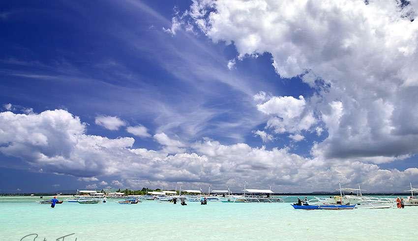 the sandbar at Virgin Island, Panglao, Bohol