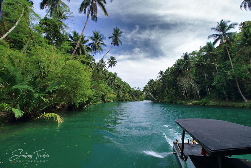 cruising the Loboc River in Bohol