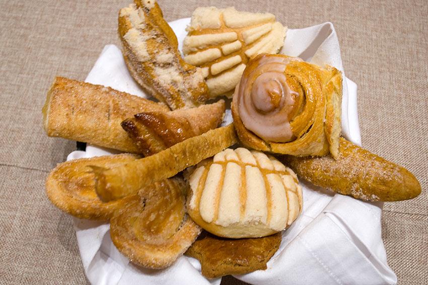 platter of bread baked by El Cid's Chef's Pedro Rios Millan and Luis Villa