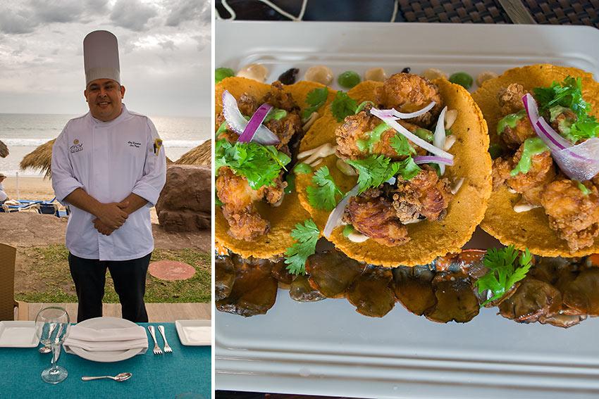 El Cid's Executive Chef Luis Ignacio Pazos Garcia and tacos