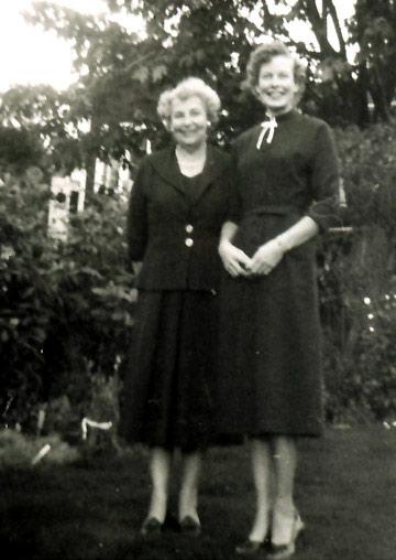 Clara Hyldahl Stave and daughter Carol Virginia Stave