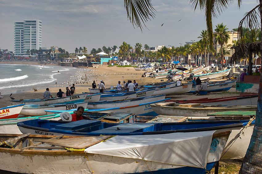 fishing boats adjacent to the Malecon, Mazatlan