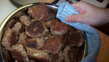 a batch of Frikadeller