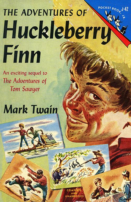 Huckleberry Finn book cover