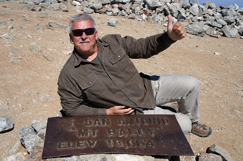 Jeff Beeler at the summit of Mt. Baldy