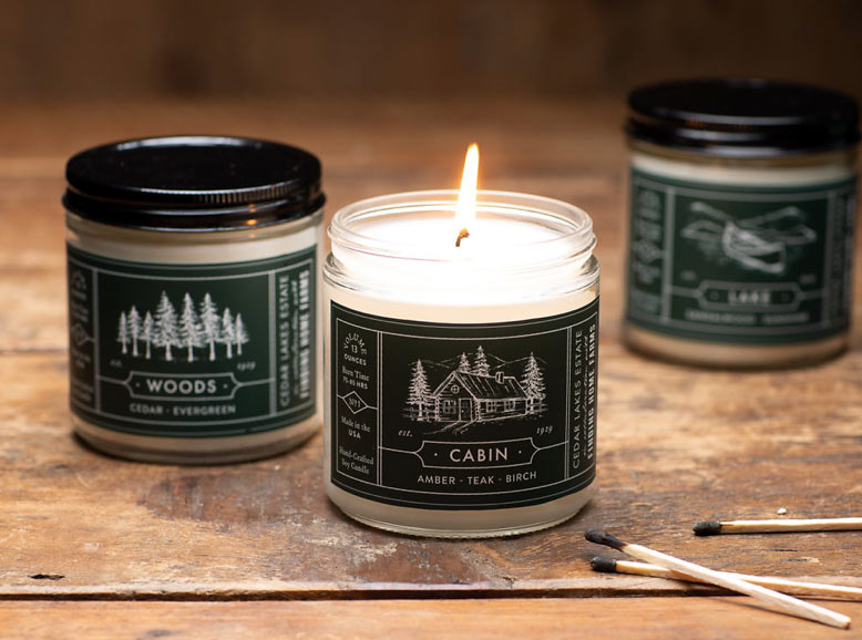 scented soy candles from Cedar Lakes Estate Collection