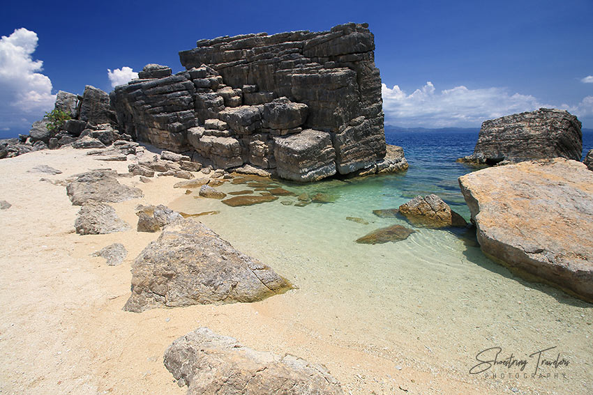huge monolithic rocks at Burubangkaso Island, Monreal
