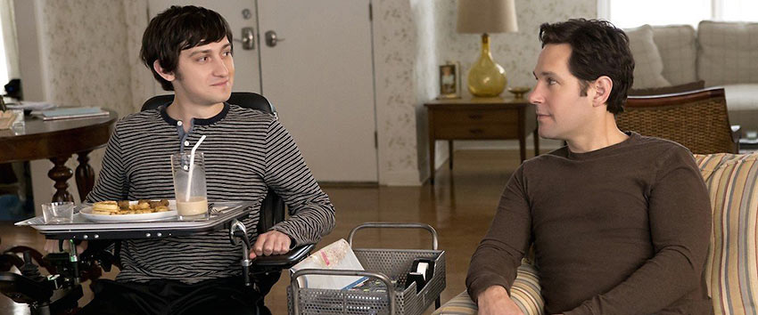 Craig Roberts & Paul Rudd in 'The Fundamentals of Caring'
