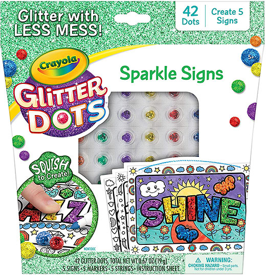 Crayola's Glitter Dots Sparkle Signs