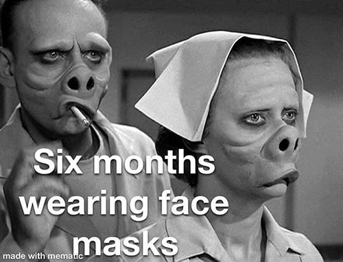 Parting Shots: Face Masks for 6 Months